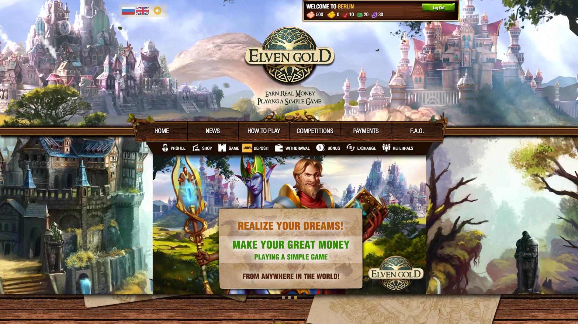 Geld verdienen mit Browsergames - Elvengold