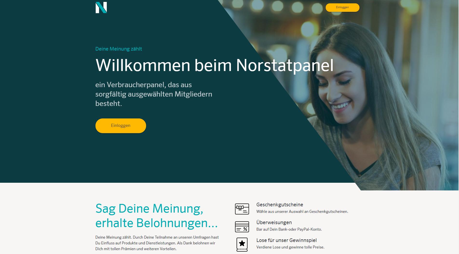 Norstat Panel Erfahrungen - Die Homepage